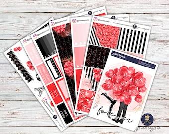 Valentine Planner Stickers | Weekly Kit - Be Mine | Erin Condren Vertical
