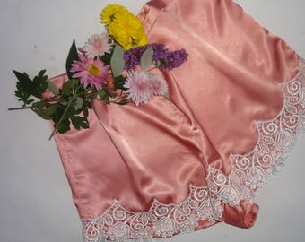French knickers, satin knickers, satin panties, lace lingerie, lingerie, vintage lingerie, silk lingerie, pink  lingerie, pink   knikers