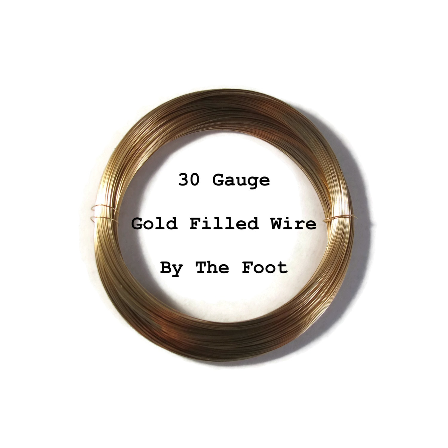 30 Gauge Wire, 14/20 Gold Filled Wire, Thin Wire By The Foot, Round ...