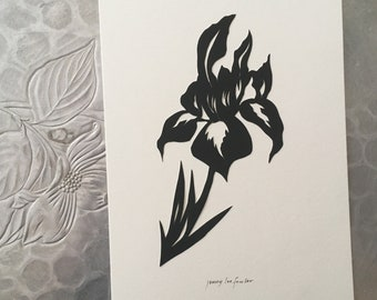Iris Silhouette Papercutting
