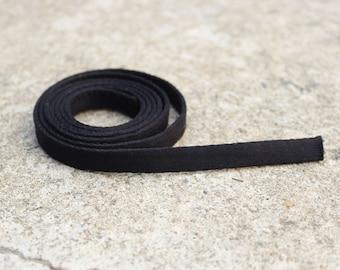 """Black 3/8"""" Plush Underwire Bra Channeling"""