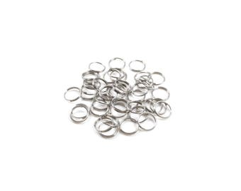 200 Double round rings in stainless steel - 8 x 0.6 mm