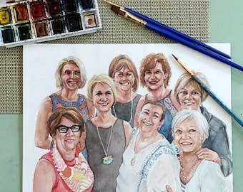 Custom Water Color Portraits -  by Commission