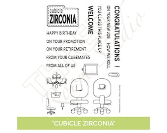"TRS ""Cubicle Zirconia"" Clear Stamp set"