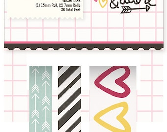 Simple Stories Love & Adore Washi Tape | Perfect for your journals and planners!