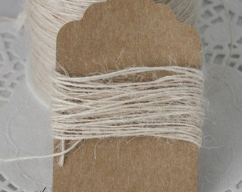 Ivory Burlap Twine, Ivory Jute Twine String, Wedding, Gift Wrapping, Jewelry Supplies, Bakery Twine, Ivory Twine