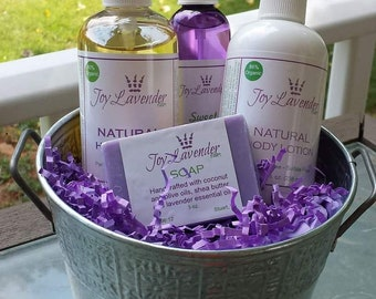 The Joy Bucket- Lavender Gift Set