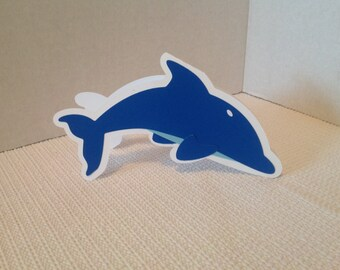 Dolphin Shaped Card , fish , sea, ocean