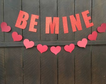 Be mine with hearts