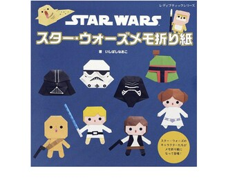 "Origami ""How to make Star Wars Memo"" Book Japanese Free shipping from Japan"