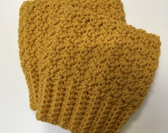 Mustard Yellow Boot Cuffs, Chunky Boot Socks, Women's Boot Cuffs, Boot Toppers, Mustard Boot Cuffs, Fall Accessories, Fashion Boot Toppers