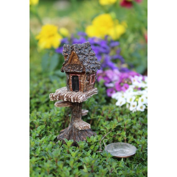 Itty Bitty Clubhouse 2.75″ Tall | 1.25″ Wide | 2″ Deep | 2″ Metal Pick for the Fairy Garden