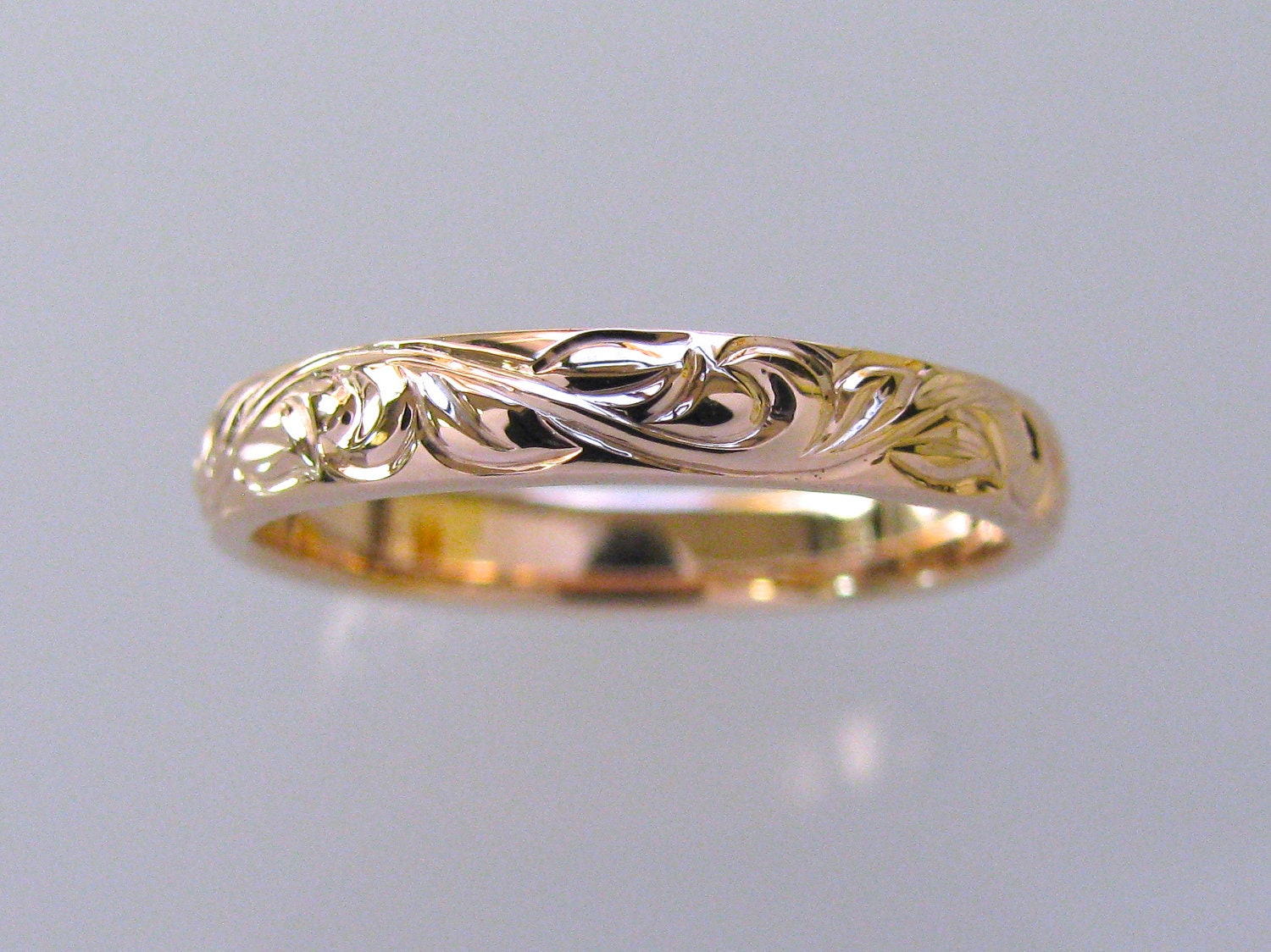 two yellow engraved wedding pattern band intricate gold mens in rings diamonds jewelry tone fascinating yg nl customized