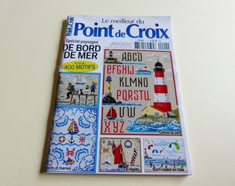 Cross-stitch over 400 patterns embroidery on the theme of the sea landscape seaside booklet grid