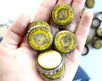 Vintage Beer Bottle Caps, Craft Supply
