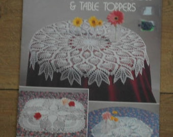 vintage 1989 crochet patterns Pineapple Doilies and table toppers