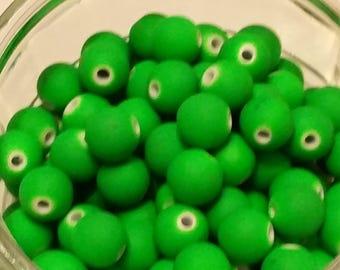 20 matte neon 10mm acrylic beads