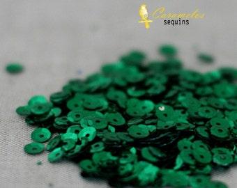 Paillettes vert Kelly 5mm