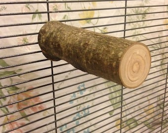 Apple Wood Chinchilla Perch + Mounting Hardware