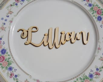 Custom Calligraphy Wooden Place Names