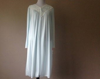 L / NWT Nylon Peignior Dressing Gown Robe by Shadowline / Vintage Sleepwear Lingerie / Large / New With Tags / FREE USA Shipping