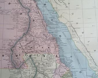 Antique ethiopia map Etsy