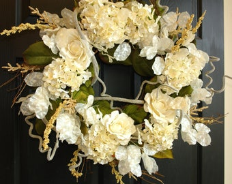 summer wreaths for front door wreaths spring ivory white large wedding door wreaths handmade front door decorations outdoor wreaths