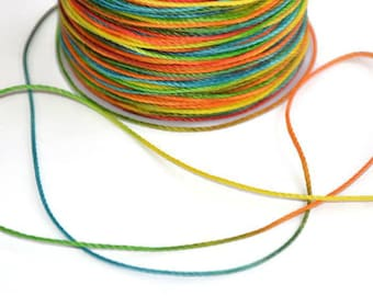 5 m cord polyester yarn multicolored 0.5 mm