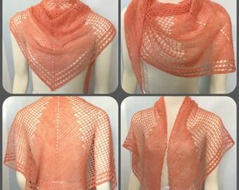 Pattern only - Fly Away Shawl pattern crochet lace pattern scarf shawlette
