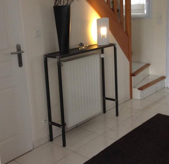meuble industriel console cache radiateur. Black Bedroom Furniture Sets. Home Design Ideas
