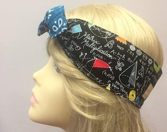 Math is cool PinUp Style Headband