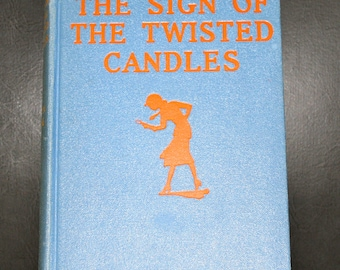 Antique, first edition, 1933, Nancy Drew, Sign of the Twisted Candles, Carolyn Keene, very good condition