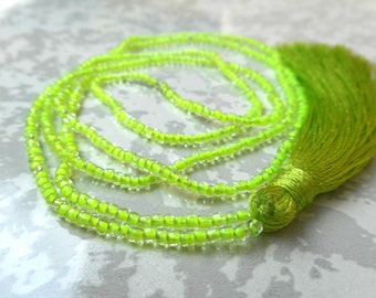Neon Tassel Necklaces, tassel jewelry.