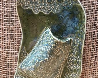 Wall pocket ceramic handmade