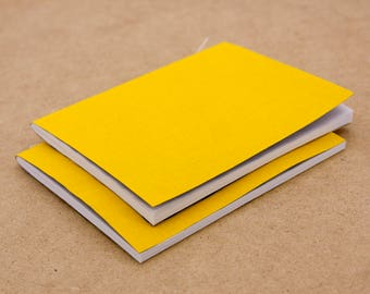 Small Yellow Bookcloth Softcover Notebook   Sketchbook,Pocket Journal,Quick Notes,Perfect Gift under 10,gift for him or her, for artists