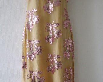 Sequin Sheer Net Indian Vintage Dress