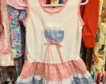 1980s Girls Dress 3/4T