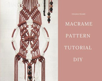 Home decor Macrame PDF Tutorial  - Circle wall hanger - DIY macrame - EraMacrame