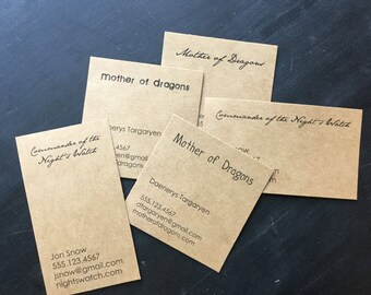 50, 100, 150 or 200 super simple kraft business cards- designed and printed