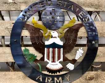 United States Army Metal Wall Art Logo