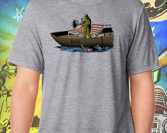 The Creature from the Lagoon Hates The Walking Dead / Men's Zombie Gray Performance T-Shirt