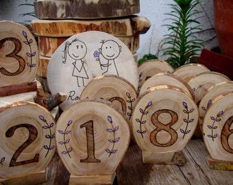 Meseros boda, números para decorar mesa de boda, table setting wedding, números originales para mesa