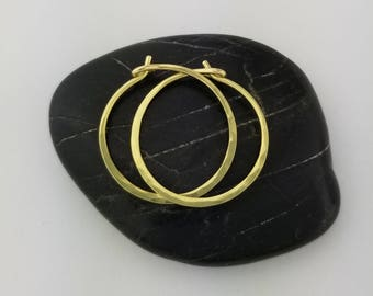 Thin 18k Solid Gold Hoop Earrings, 20 Gauge, Solid 18k Gold Hoop Earrings, 18k Hoops, Solid Gold Hoops, Mothers Day Gift for Her Jewelry