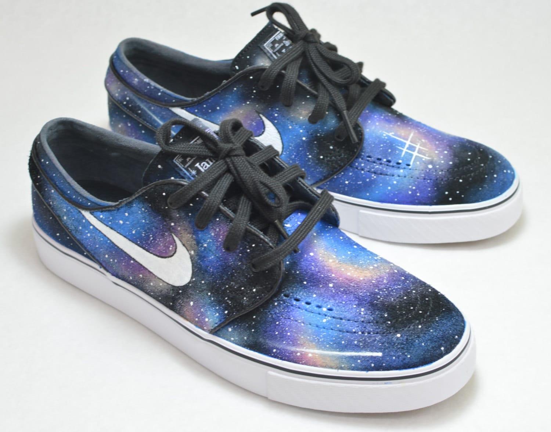 Custom Hand Painted Shoes Nike Zoom Stefan Janoski Galaxy