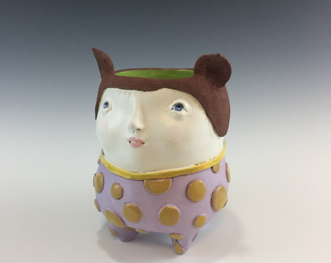 Whimsical Ceramic Planter