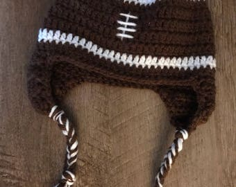 Crocheted Football hat