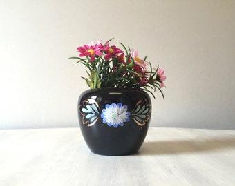50s vintage vase, 1980s vase, vintage vase, 50s vase, vintage china vase, miniature flower vase, hand painted vase, mini vase, ceramic vase