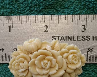 Vintage Plastic Rose Pin