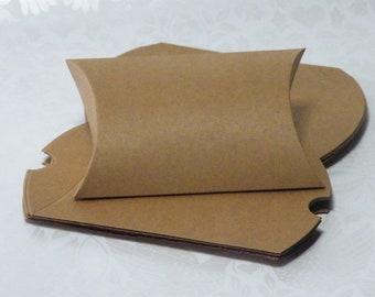 "20 Pillow Gift Card Boxes, Kraft Pillow Box, Plain Pillow Box, Pillow Gift Box, Gift Card Box, Pillow Boxes, Gift Card 3-5/8"" x 2-7/8"""
