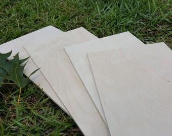 Baltic Birch Plywood - Set of Four Pieces - Scroll Saw Wood -  Craft Wood - Scrap Wood